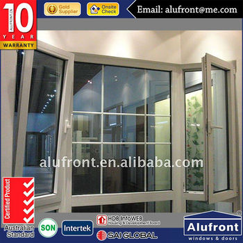 Balcony Glass Curtain French Aluminum Window with Mosquito Nets Made In China