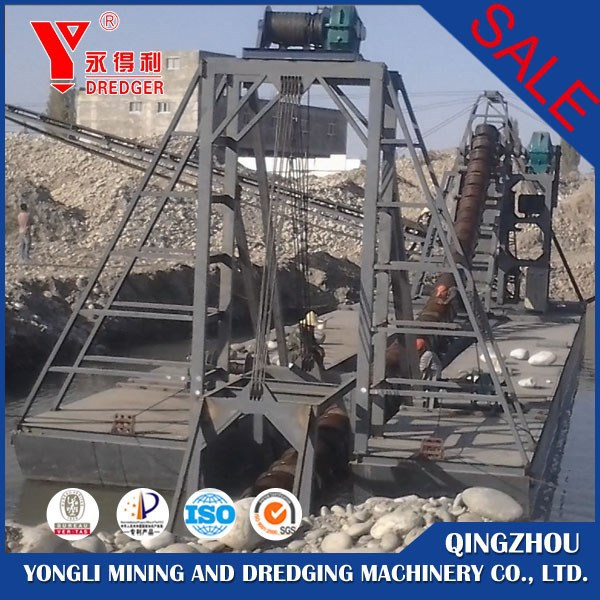 China Bucket Gold Dredge Boat For Sale