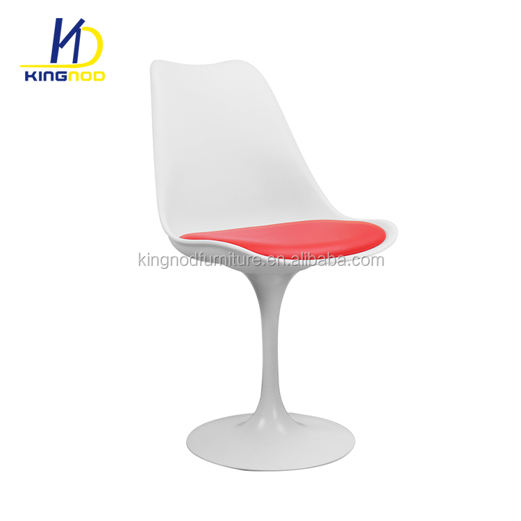Modern Living Room Furniture Plastic PP ABS Eero White Tulip Side <strong>Chair</strong> With cushion