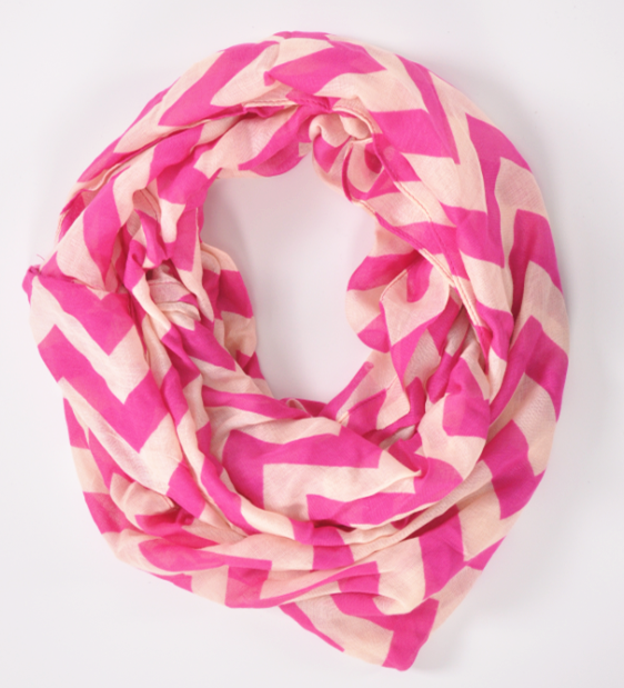 Fashion 100% viscose wave pattern print infinity loop scarf