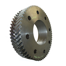 Double quenching reduction herringbone gear