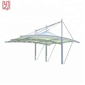 Large pdvf tensile canopy membrane structure tent for carport car