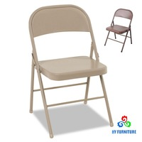 Cheap full metal folding chair used folding chairs for sale