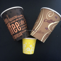 Accommodating PE lined double wall hot paper coffee cups 20 oz