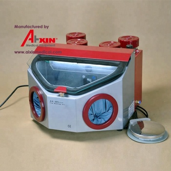 Dental Lab Sandblaster (5 Pen, 4 Tank,LED lighting )