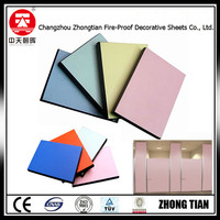 toilet cubicle partition Decorative High Pressure compact phenolic board