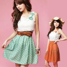 2014 Korean fashion neck models cotton dress 3607
