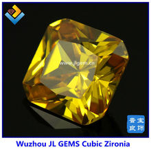 2014 Fashion Square Shape Dark Gold CZ Stone For Jewelry