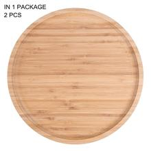 Bamboo Round <strong>Plates</strong>,12 Inches Cheese <strong>Plates</strong> Coffee Tea Serving Tray Fruit platters