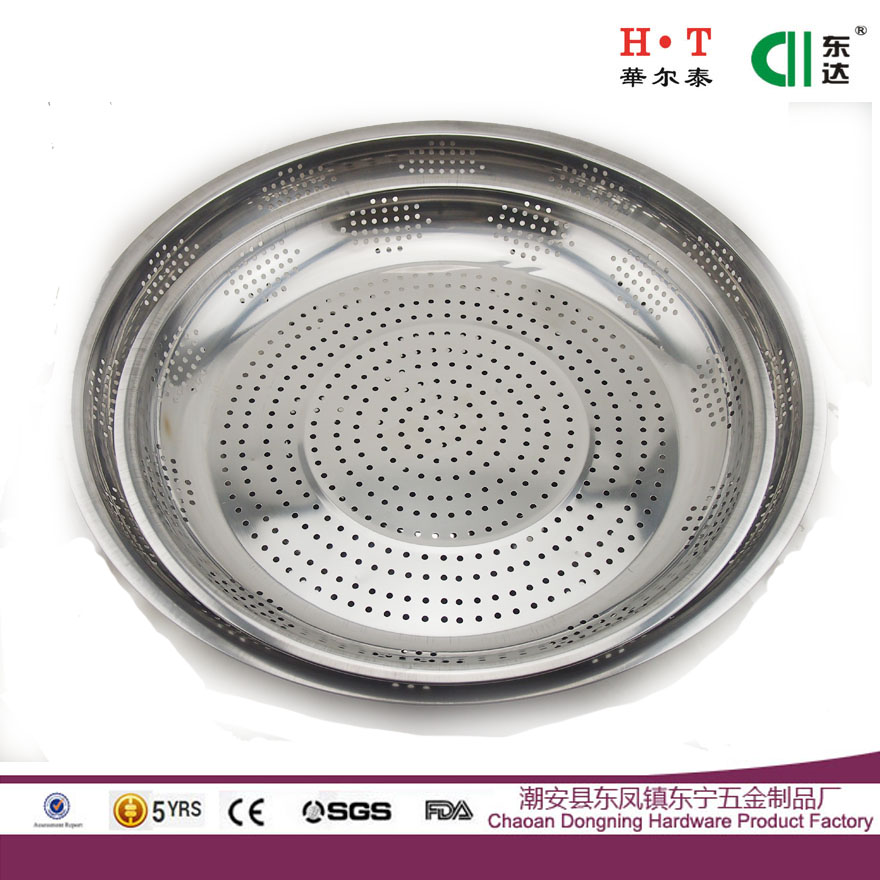 Stainless steel Korean pickle sun-cure dish food steaming plate