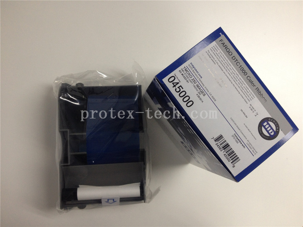 ID smart thermal transfer card printer ribbon- 45000 YMCKO ribbon for DTC1000