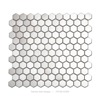 century 2'' hexagon metal mosaic tile for wall decor glosssy stainless steel tile