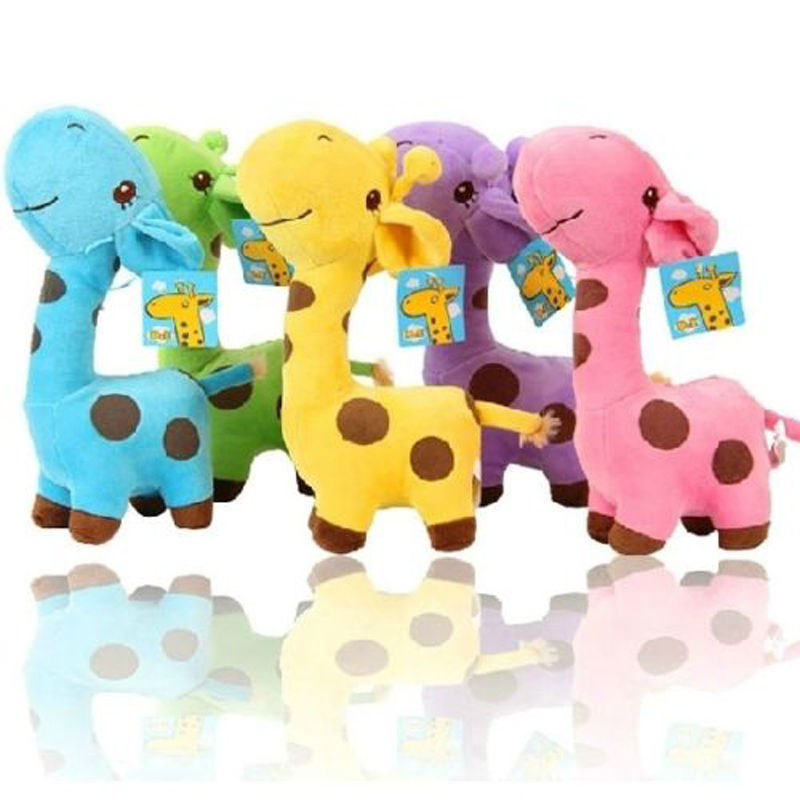 1 PC Unisex Cute Gift Plush Giraffe Soft Toy Animal Dear Doll Baby Kid Child Girls Christmas Birthday Happy Colorful Gifts