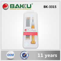 2016 hot selling BAKU New Product BK-3315 S2 steel precision 6 in 1hand tools magnetic Screwdriver Set