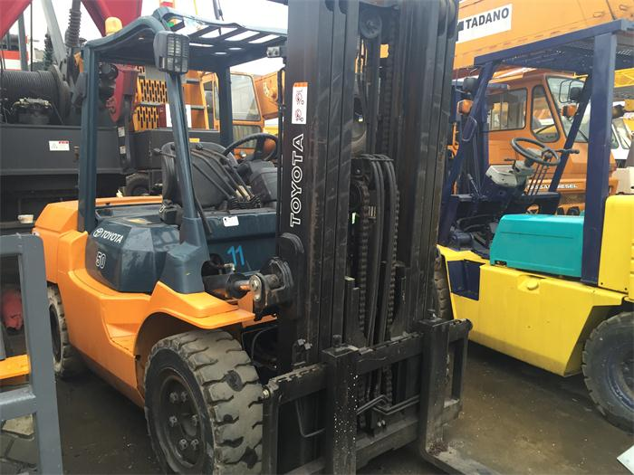 Stable Capability Good Price 7FD50 Toyota Japan Origin 5 Ton Used Forklift