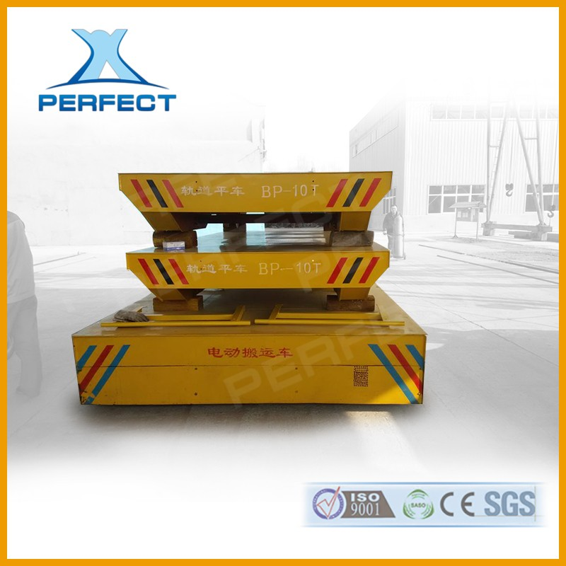 Electric Driven Mobile Cable Operated Transportation Trailer On Rail P38 Transportation Bogie