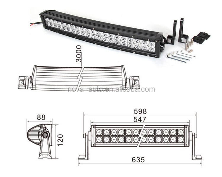 Jeep Light Bar 20 Inch 120w Side Bracket Light Bar Car