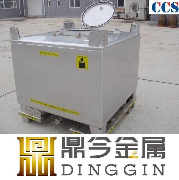 UN certificate stainless steel ibc tank for detergent company