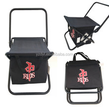 Polyester outdoor folding chair with cooler bag