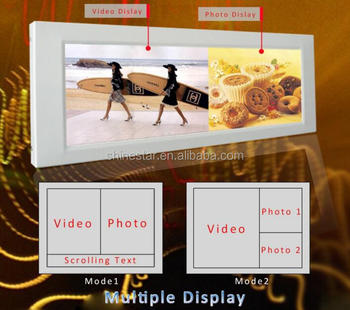 "high brightness 28"" 29"" Inch ultra wide stretched LCD advertising display bar strip monitor"