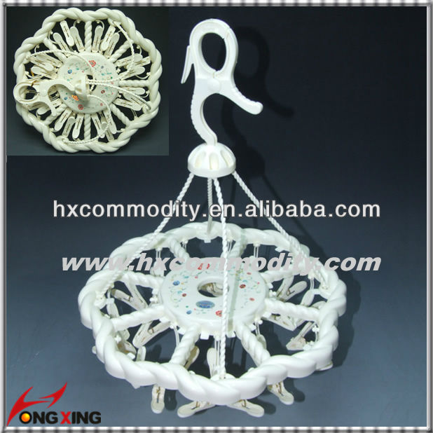 Plastic Drying Hander with Clips Plastic Clothes Socks Hanger