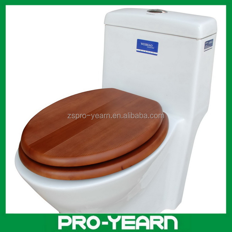 Solid Wood Slow Close Toilet Seat with Customized Solid Wood and Soft Close Hinge