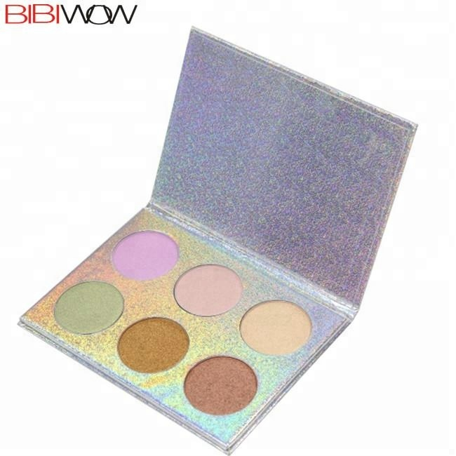 BIBIWOW wholesale cardboard palette packaging cosmetic powder highlighter makeup <strong>face</strong>