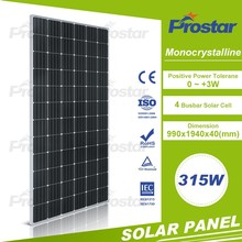 A grade 315w Mono solar panel high efficiency 4BB 72cells 315wp solar module