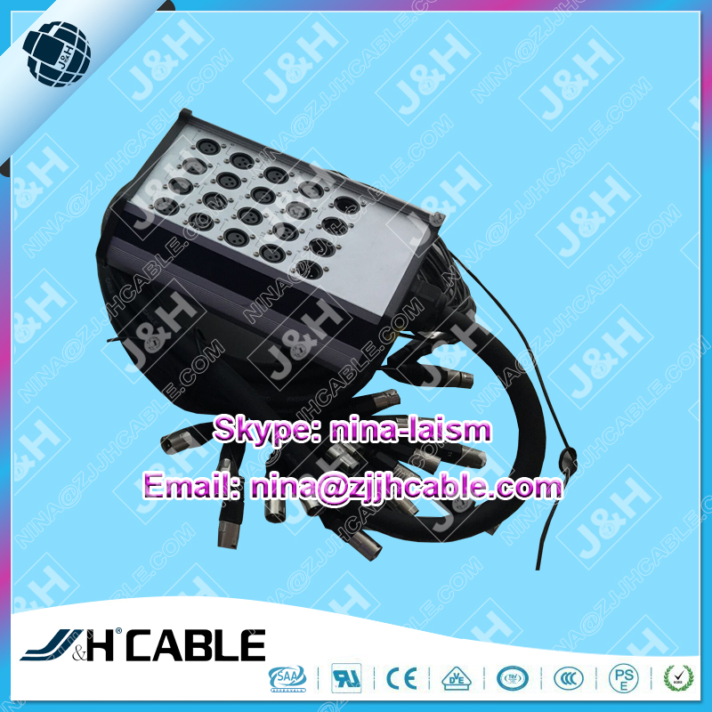 High Quality XLR Input and Output Audio Stage Snake Cable