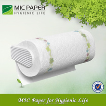 White Printing logo Kitchen Paper Roll Towel