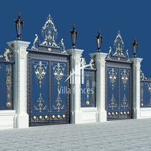 indian house solid cast Aluminum main gate designs cast aluminum garden gate cast aluminum courtyard security gate