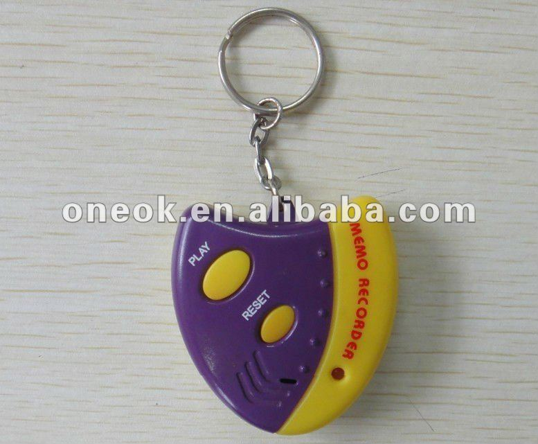 LED voice record key chain for 10 second products