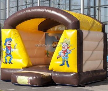 Western cowboy bounce house/bouncy castle/used bounce houses for sale