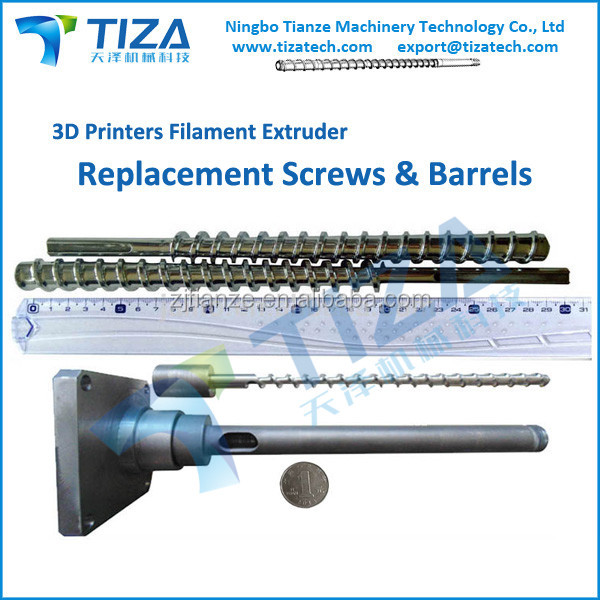 3D Print PLA/ABS Filament Extruders Screws and Barrels