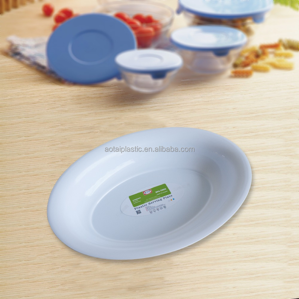 Oval Shape Plastic <strong>Plate</strong> For BBQ