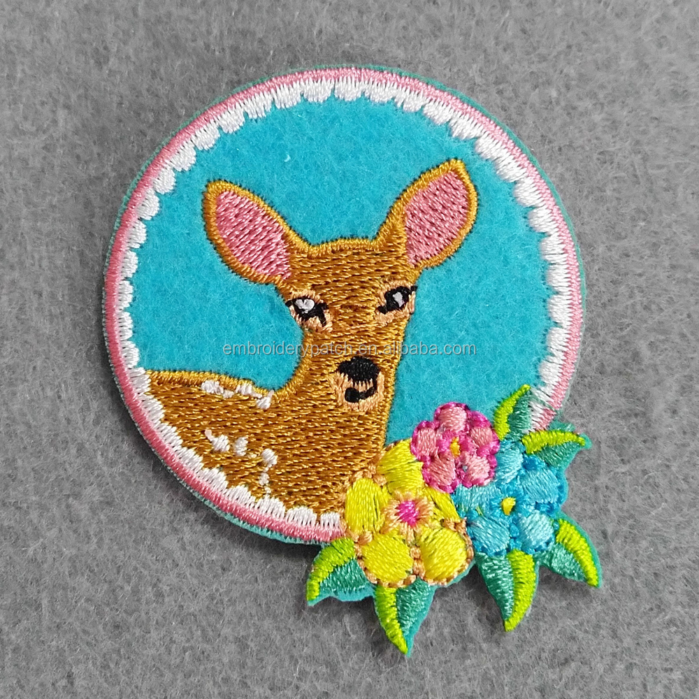 delicate deer Deer Embroidery Patch Applique