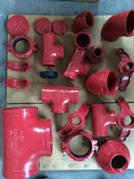 FM UL CE approved Ductile Iron grooved Pipe fitting and Couplings joint