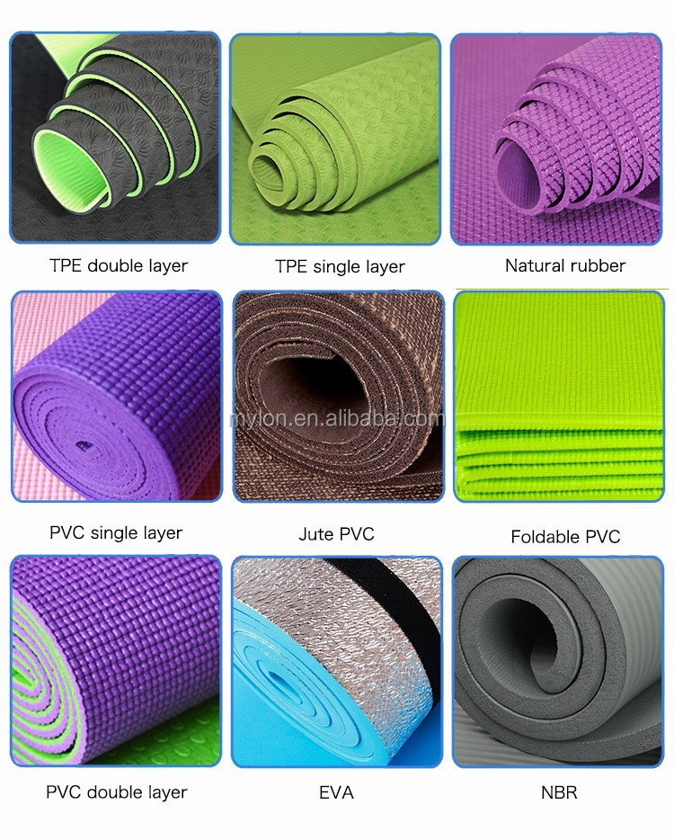 Anti-fatigue Tpe Pvc Nbr Pu Yoga Mat/organic Yoga Mat/eco
