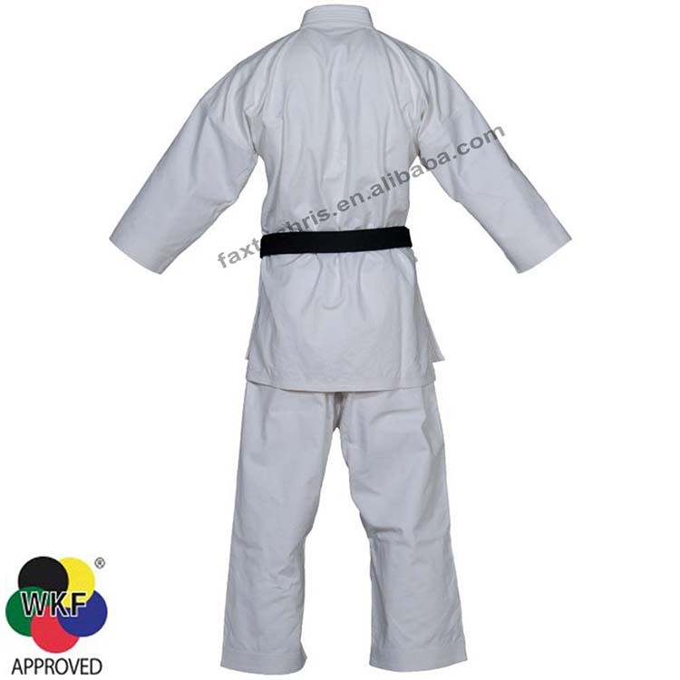 WKF approved white karate gi karate trainning uniform karate uniform