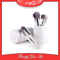 MSQ 8pcs Pearl White Anti-bacteria Brush Hair Make Up Brush Set