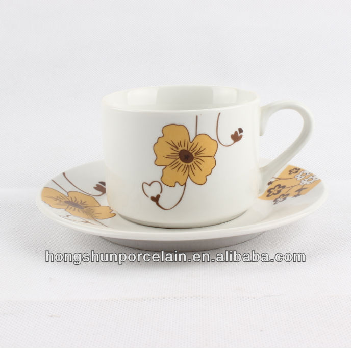 New bone china coffee cup and saucer