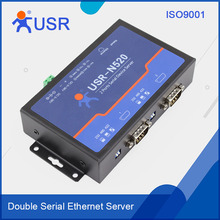 Serial RS232 RS485 RS422 to Ethernet RJ45 Server Support DC Adapter and 5.08-2 Terminal Power Supply