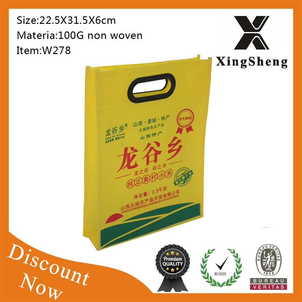 free sample high quality promotion cheap die cut non-woven bags