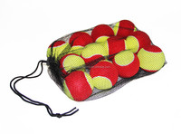 Red soft tennis ball play stages kids tennis ball low compression tennis ball stage 3 -12pcs pack