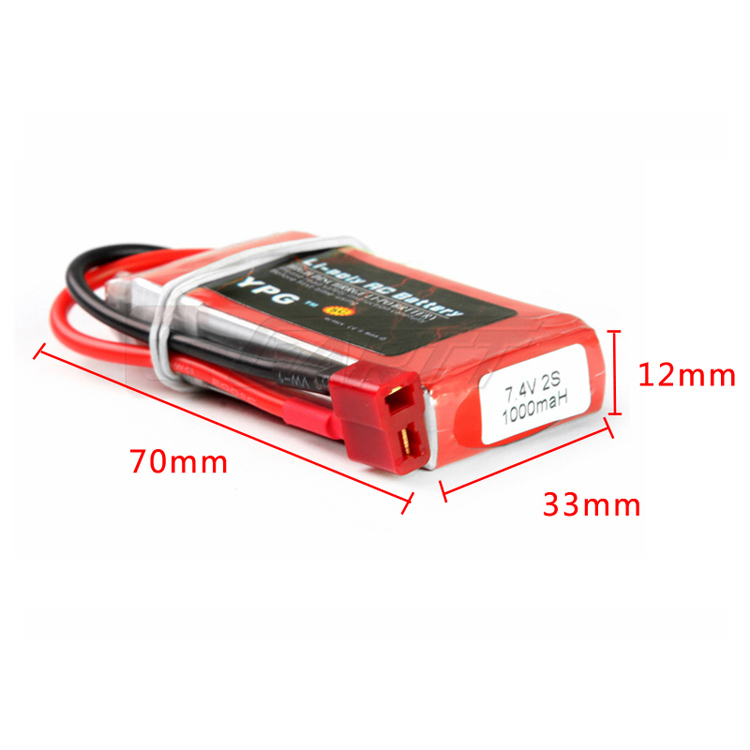 China manufacture 1000mah 2S 7.4V 60C rechargeable lithium ion battery