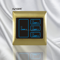 Touch screen switch UK Standard 4 Gang Remote Control Light Switch