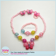 necklace bracelets kids jewel set designs from China factory price customize set of neclace, bracelets for girls
