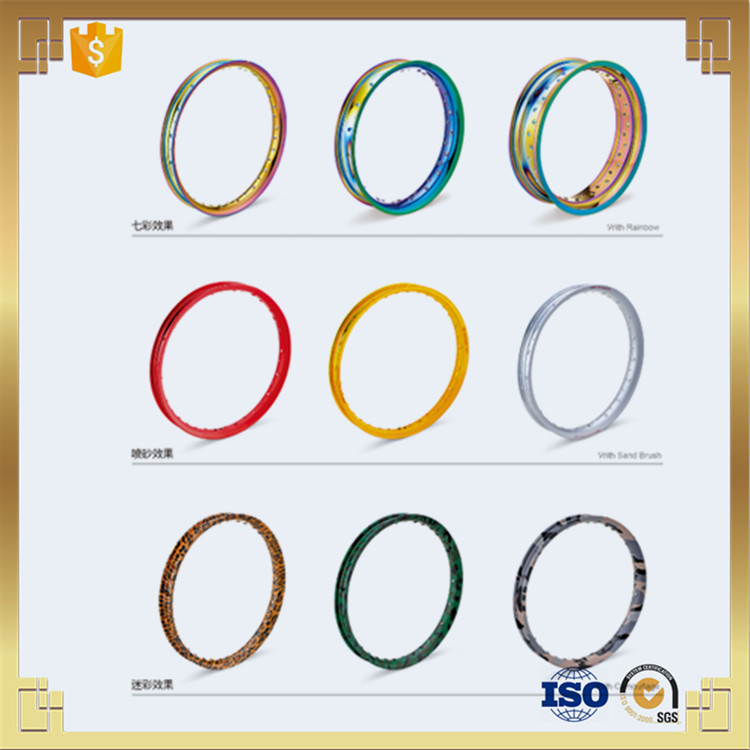 rainbow color titanium plated motorcycle rims for sales