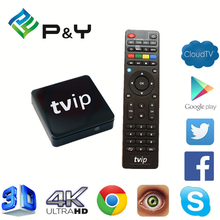 2017 Newest TVIP S805 1G8G Linux android dual OS h.264 h.265 ott tv box with great price Quad core TV