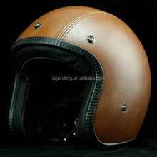 Wholesale Leather Cover Open Face Helmet For Mini Motorcycle Helmet